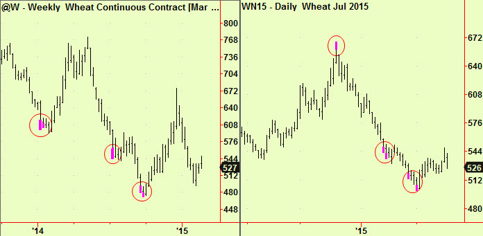 Wheat weekly, daily